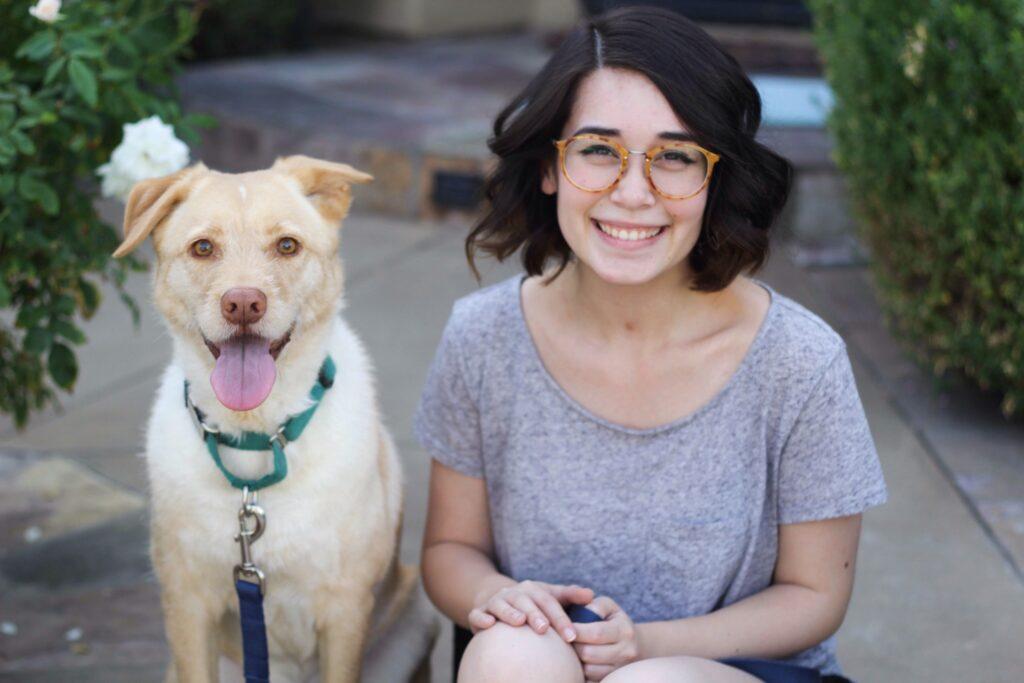 A Girl With A Labrador