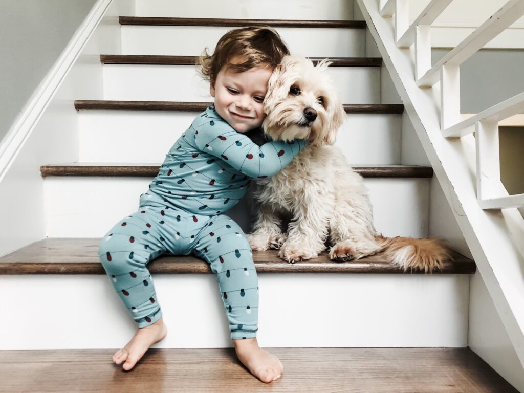 A Kid with his Dog
